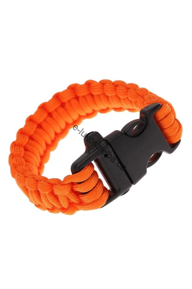 Paracord náramek Deluxe Orange resque
